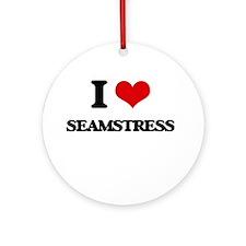 I love Seamstress Ornament (Round)