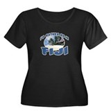 Fiji Women's Plus Size Scoop Neck Dark T-Shirt