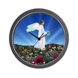 August Birthday Angel : Wall Clock