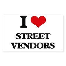 I love Street Vendors Decal
