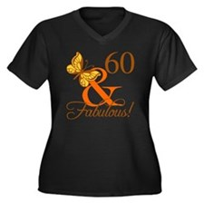 60th Birthda Women's Plus Size V-Neck Dark T-Shirt