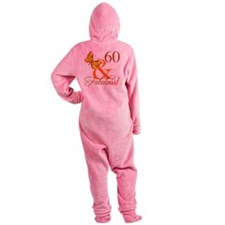 60th Birthday Butterfly Footed Pajamas