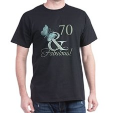 70th Birthday Butterfly T-Shirt