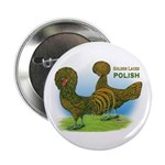 Golden Polish Fowl Button