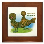 Golden Polish Fowl Framed Tile
