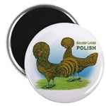 Golden Polish Fowl Magnet