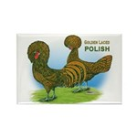 Golden Polish Fowl Rectangle Magnet (10 pack)