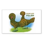 Golden Polish Fowl Rectangle Sticker