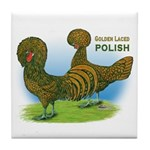 Golden Polish Fowl Tile Coaster