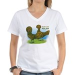 Golden Polish Fowl Women's V-Neck T-Shirt