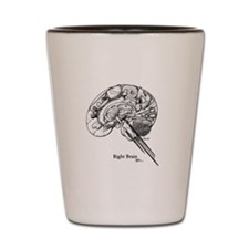 This is your Brain on Art Shot Glass