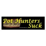 Pot Hutners Suck - Maya bowl Bumper Sticker