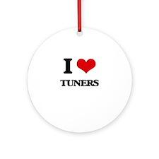 I love Tuners Ornament (Round)