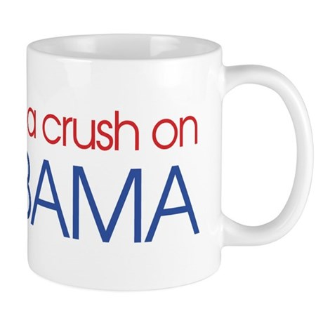 I got a crush on obama (simpl Mug       