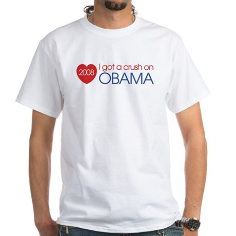 I got a crush on obama (simpl White T-Shirt