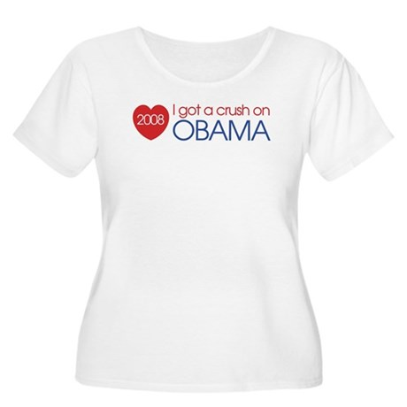 I got a crush on obama (simpl Women's Plus Size Sc