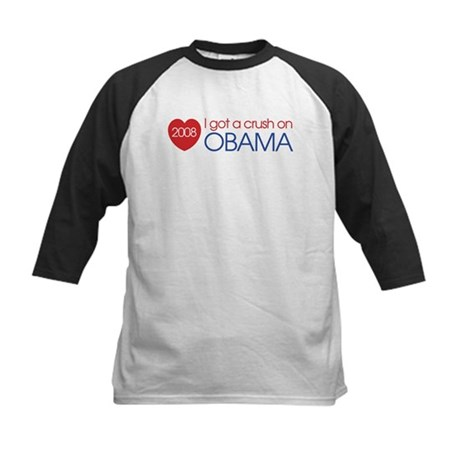 I got a crush on obama (simpl Kids Baseball Jersey