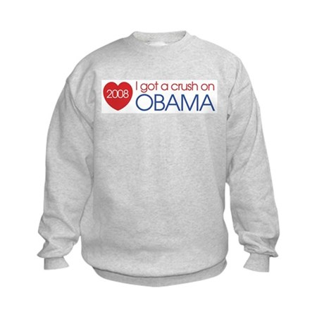 I got a crush on obama (simpl Kids Sweatshirt