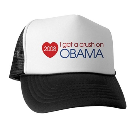 I got a crush on obama (simpl Trucker Hat