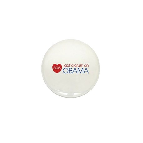 I got a crush on obama (simpl Mini Button