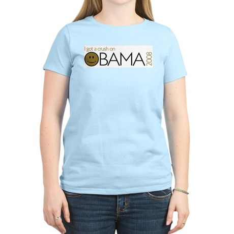 I got a crush on obama (Smile Women's Light T-Shir