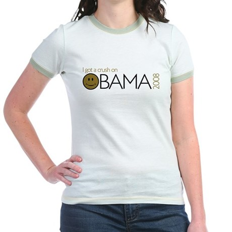I got a crush on obama (Smile Jr. Ringer T-Shirt