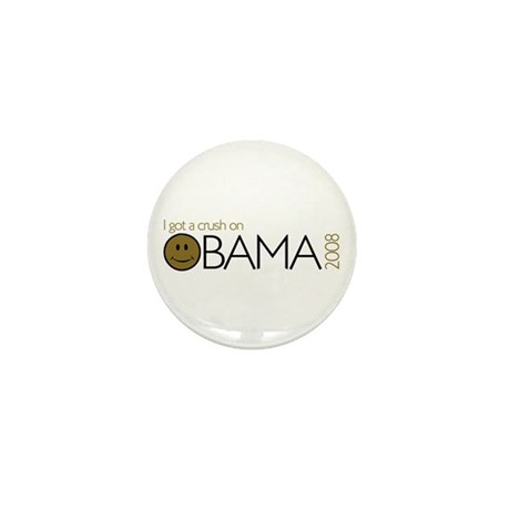 I got a crush on obama (Smile Mini Button (10 pack