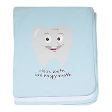 Clean Teeth baby blanket