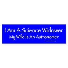 Astronomy widower bumper sticker