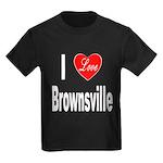 I Love Brownsville (Front) Kids Dark T-Shirt