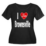 I Love Brownsville (Front) Women's Plus Size Scoop