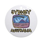 Sydney Australia Ornament (Round)