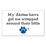 Wrapped Around Their Paws (Akita) Decal