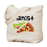 Pianist Fueled By Pizza Tote Bag