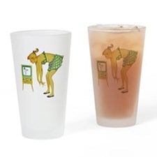 Retro Twerking; Vintage Art Drinking Glass