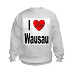 I Love Wausau Kids Sweatshirt