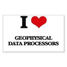 I love Geophysical Data Processors Decal