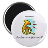 French Horn French Language 2.25&quot; Magnet (100 pack