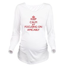 Amicably Long Sleeve Maternity T-Shirt