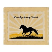 Western Custom Text Throw Blanket