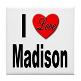 I Love Madison Tile Coaster