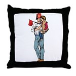 Shriner and Child Throw Pillow