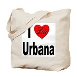 I Love Urbana Tote Bag