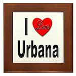 I Love Urbana Framed Tile