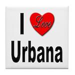 I Love Urbana Tile Coaster