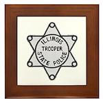 Illinois State Police Framed Tile