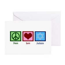 Peace Love Judaism Greeting Cards (Pk of 20)