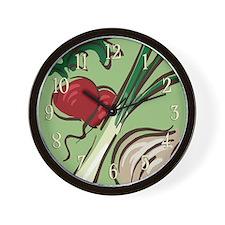 Radish and Onions Wall Clock
