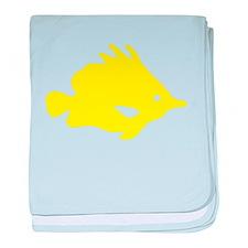 Yellow Needle Nose Fish baby blanket