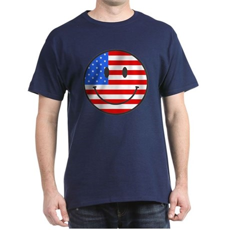 4th Of July Happy Smile Dark T-Shirt